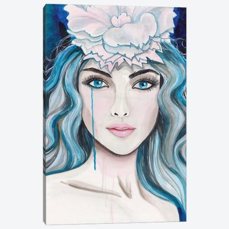 Lady In Blue Canvas Print #ADN59} by Alexandra Dobreikin Canvas Print
