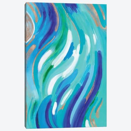 Aqua Canvas Print #ADN63} by Alexandra Dobreikin Canvas Wall Art