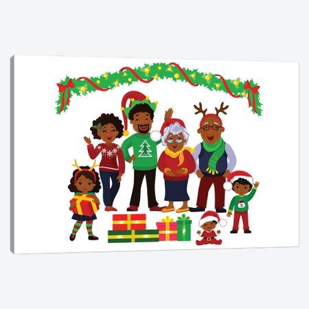 Christmas Family I Canvas Print #ADN68} by Alexandra Dobreikin Canvas Wall Art