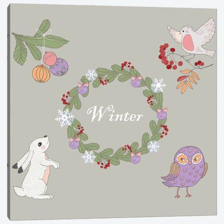 Winter Canvas Print #ADN70} by Alexandra Dobreikin Art Print