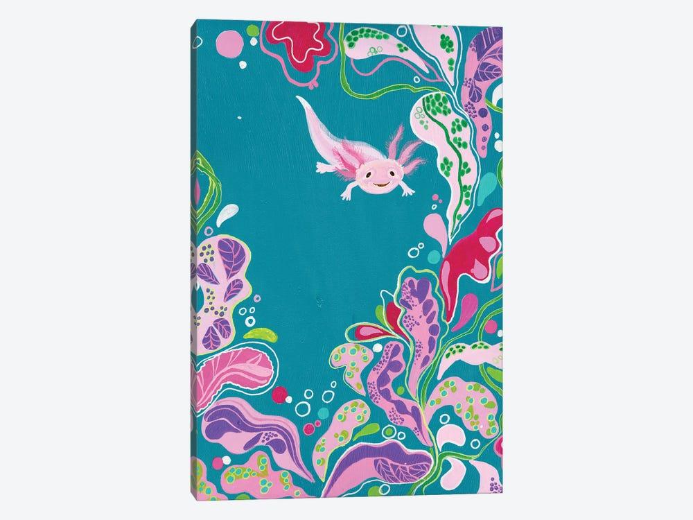 Happy Axolotl. by Alexandra Dobreikin 1-piece Art Print