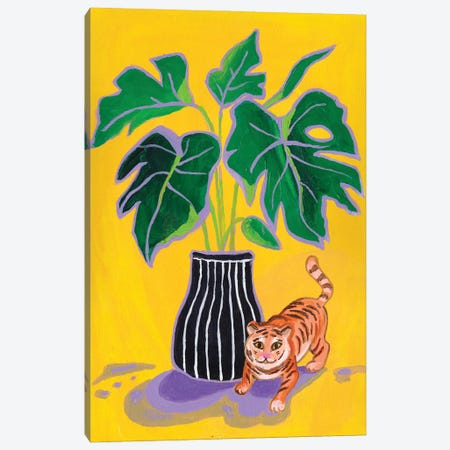 My Cute Tiger Canvas Print #ADN86} by Alexandra Dobreikin Art Print