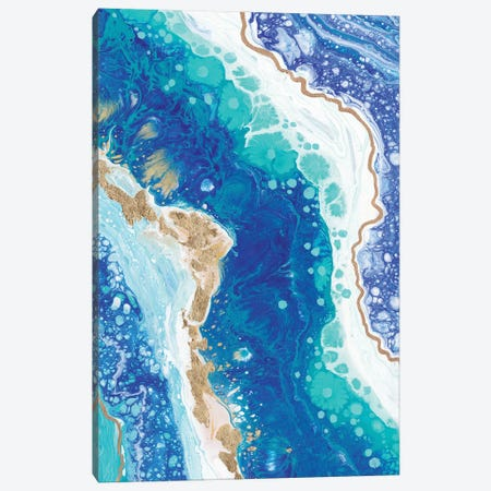 Blue Splash Canvas Print #ADN95} by Alexandra Dobreikin Canvas Wall Art