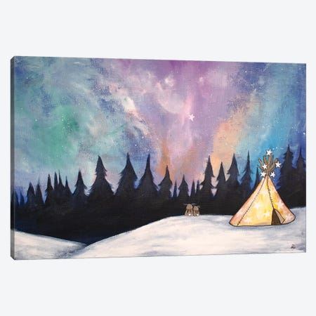 Northern Lights Canvas Print #ADO11} by Andrea Doss Canvas Artwork