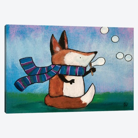 Playtime Fox Canvas Print #ADO12} by Andrea Doss Canvas Art