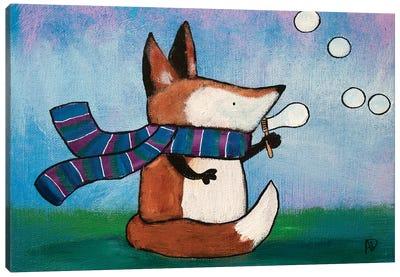 Playtime Fox Canvas Art Print