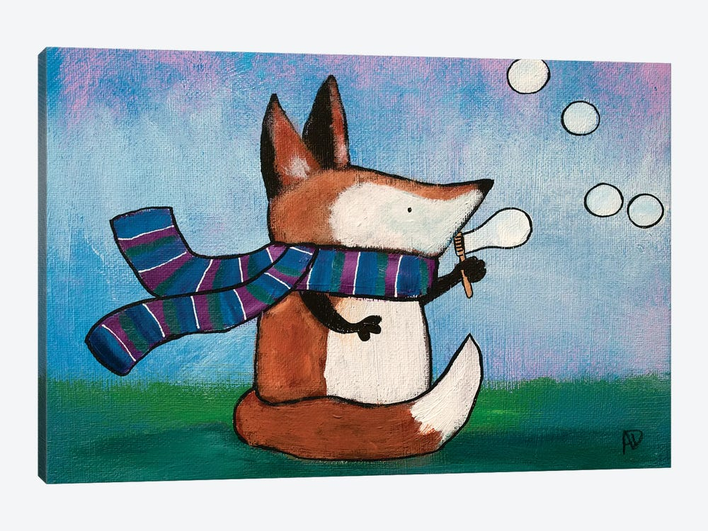 Playtime Fox by Andrea Doss 1-piece Art Print