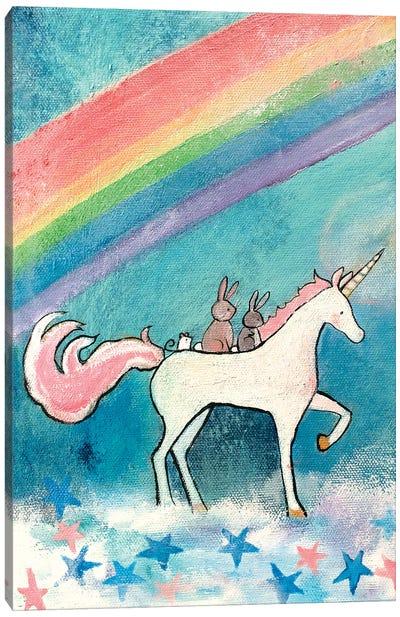 Rainbow Road Canvas Art Print