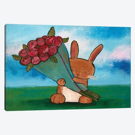 Some Bunny Loves You Canvas Print #ADO15} by Andrea Doss Canvas Print