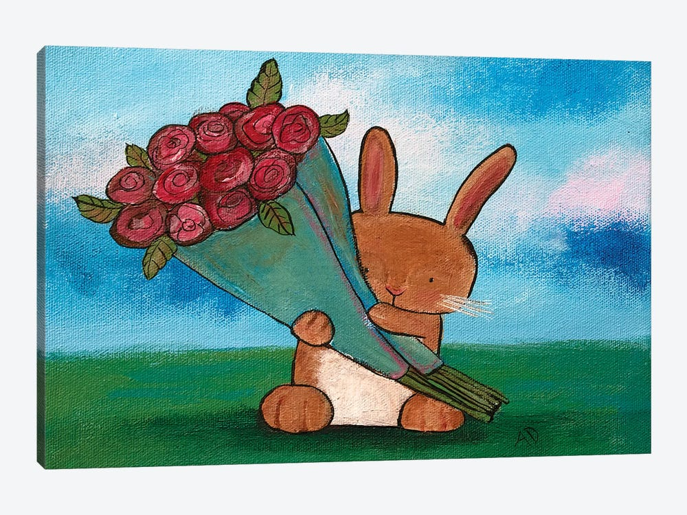 Some Bunny Loves You by Andrea Doss 1-piece Canvas Artwork