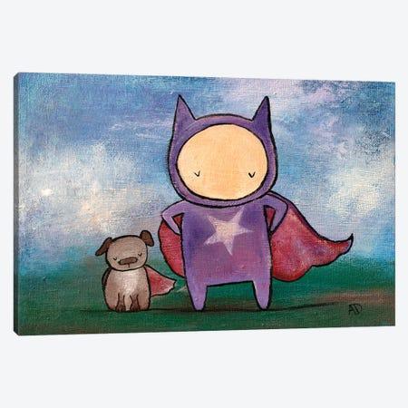 Super Friends Canvas Print #ADO18} by Andrea Doss Canvas Artwork