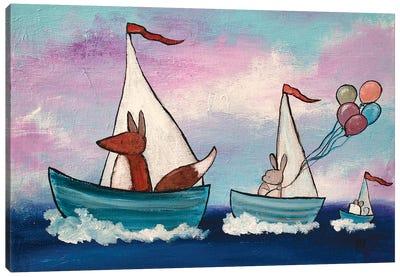 Tag Along Boats Canvas Art Print