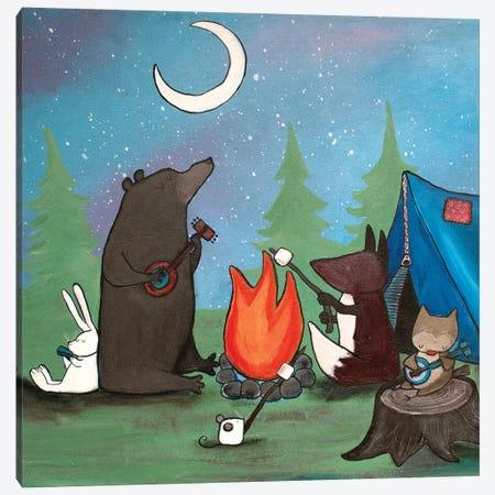Campfire Sing Along Canvas Print #ADO1} by Andrea Doss Canvas Print