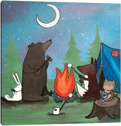 Campfire Sing Along Canvas Art Print