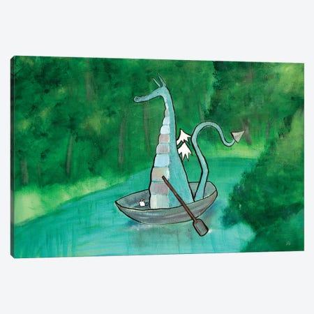 Thaddeus The Huckleberry Dragon Canvas Print #ADO20} by Andrea Doss Art Print
