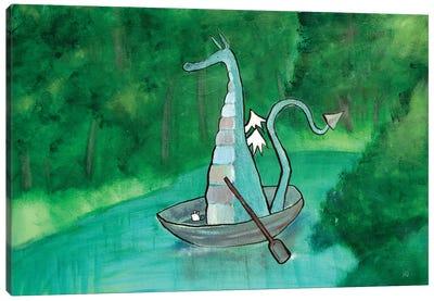 Thaddeus The Huckleberry Dragon Canvas Art Print