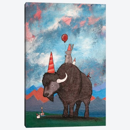 The Buffalo's Birthday Canvas Print #ADO21} by Andrea Doss Canvas Print