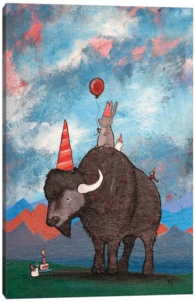 The Buffalo's Birthday Canvas Art Print