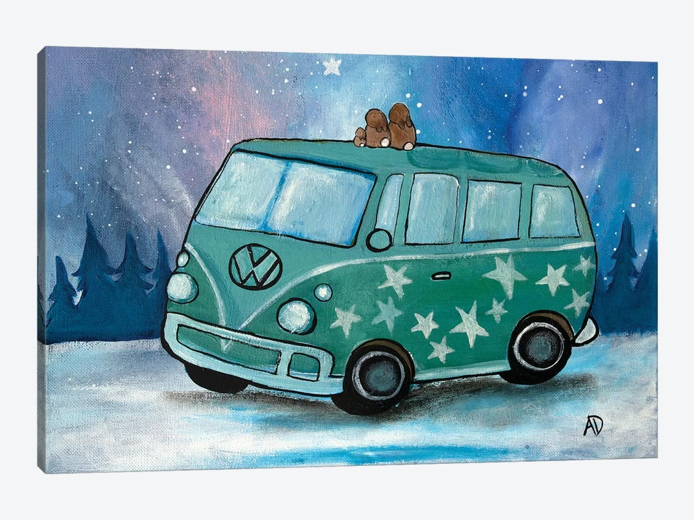 Northern Lights Camping by Andrea Doss 1-piece Art Print