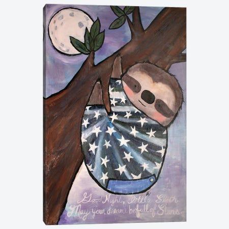 Goodnight Sloth Canvas Print #ADO6} by Andrea Doss Canvas Wall Art