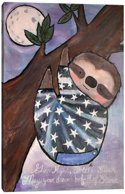 Goodnight Sloth Canvas Art Print