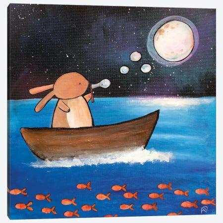 Moon Bubble Canvas Print #ADO7} by Andrea Doss Canvas Wall Art