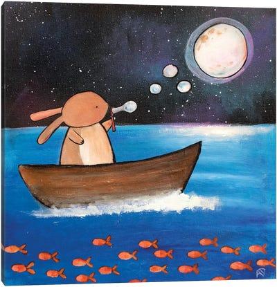 Moon Bubble Canvas Art Print