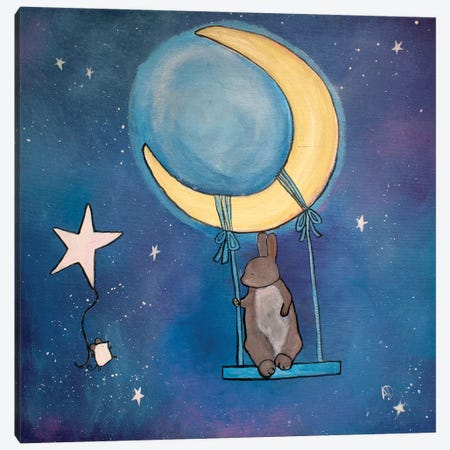 Moon Swing Canvas Print #ADO8} by Andrea Doss Art Print
