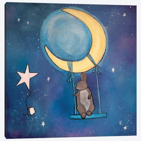 Moon Swing Canvas Print #ADO8} by Andrea Doss Art Print