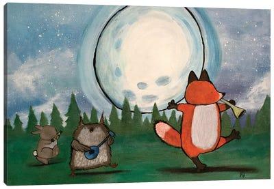 Moonlight Singing Canvas Art Print