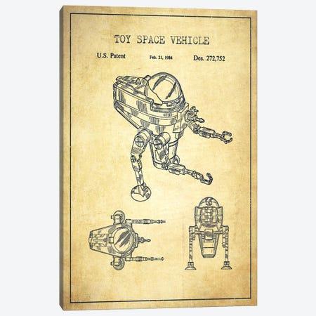 Toy Robot Vintage Patent Blueprint Canvas Print #ADP105} by Aged Pixel Canvas Print