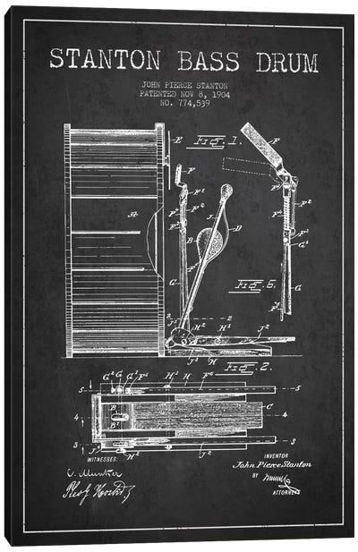 Stanton Bass Charcoal Patent Blueprint Canvas Art Print