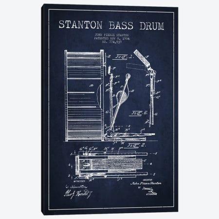Stanton Bass Navy Blue Patent Blueprint Canvas Print #ADP1066} by Aged Pixel Art Print