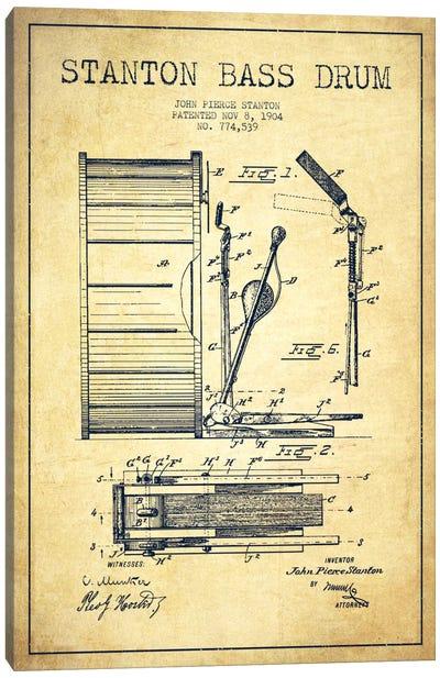Stanton Bass Vintage Patent Blueprint Canvas Art Print