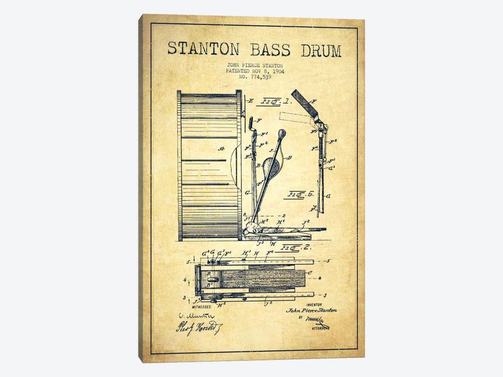 Stanton Bass Vintage Patent Blueprint by Aged Pixel 1-piece Canvas Art