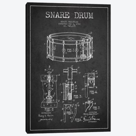 Waechtler Snare Charcoal Patent Blueprint Canvas Print #ADP1069} by Aged Pixel Canvas Wall Art