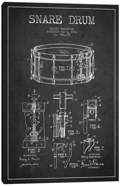 Waechtler Snare Charcoal Patent Blueprint Canvas Art Print