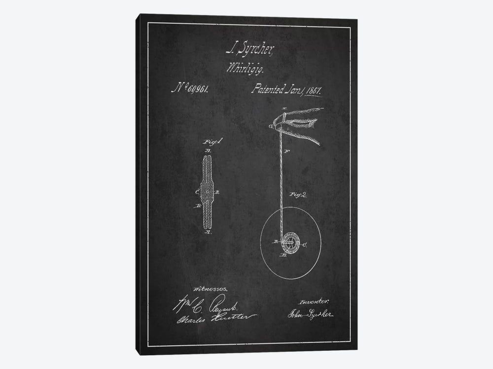 Yoyo Dark Patent Blueprint by Aged Pixel 1-piece Canvas Artwork