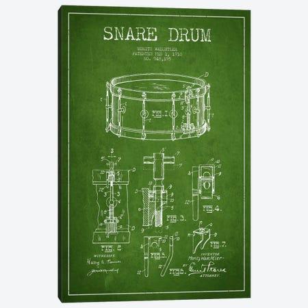 Waechtler Snare Green Patent Blueprint Canvas Print #ADP1070} by Aged Pixel Canvas Print