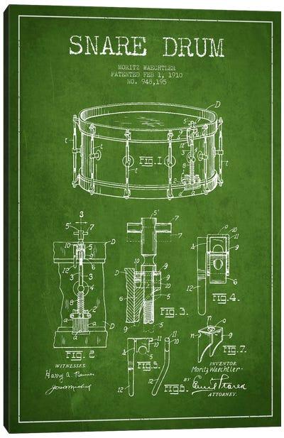 Waechtler Snare Green Patent Blueprint Canvas Art Print