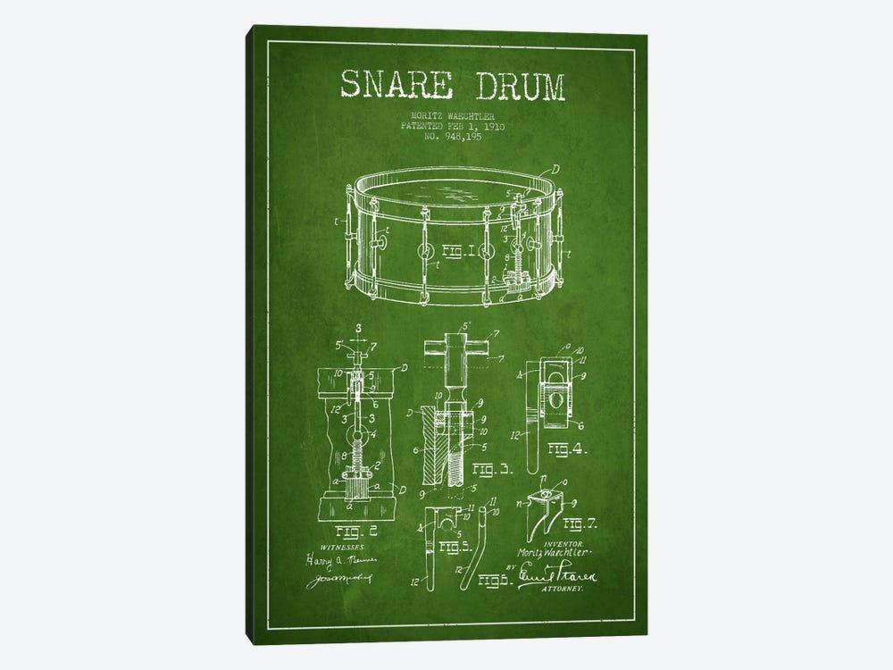 Waechtler Snare Green Patent Blueprint by Aged Pixel 1-piece Art Print