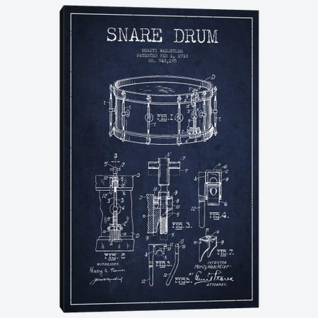Waechtler Snare Navy Blue Patent Blueprint Canvas Print #ADP1071} by Aged Pixel Canvas Print