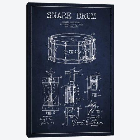 Waechtler Snare Navy Blue Patent Blueprint Canvas Print #ADP1071} by Aged Pixel Canvas Print
