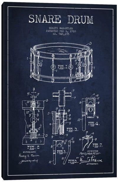 Waechtler Snare Navy Blue Patent Blueprint Canvas Art Print