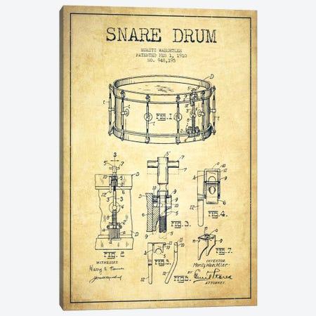 Waechtler Snare Vintage Patent Blueprint Canvas Print #ADP1073} by Aged Pixel Canvas Print