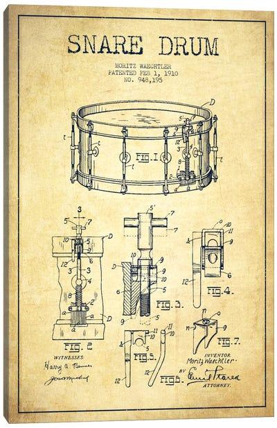 Waechtler Snare Vintage Patent Blueprint Canvas Art Print