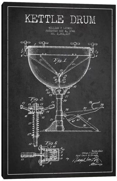 Ludwig Kettle Charcoal Patent Blueprint Canvas Art Print