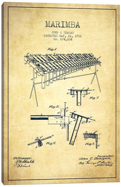 Marimba Vintage Patent Blueprint Canvas Print #ADP1088