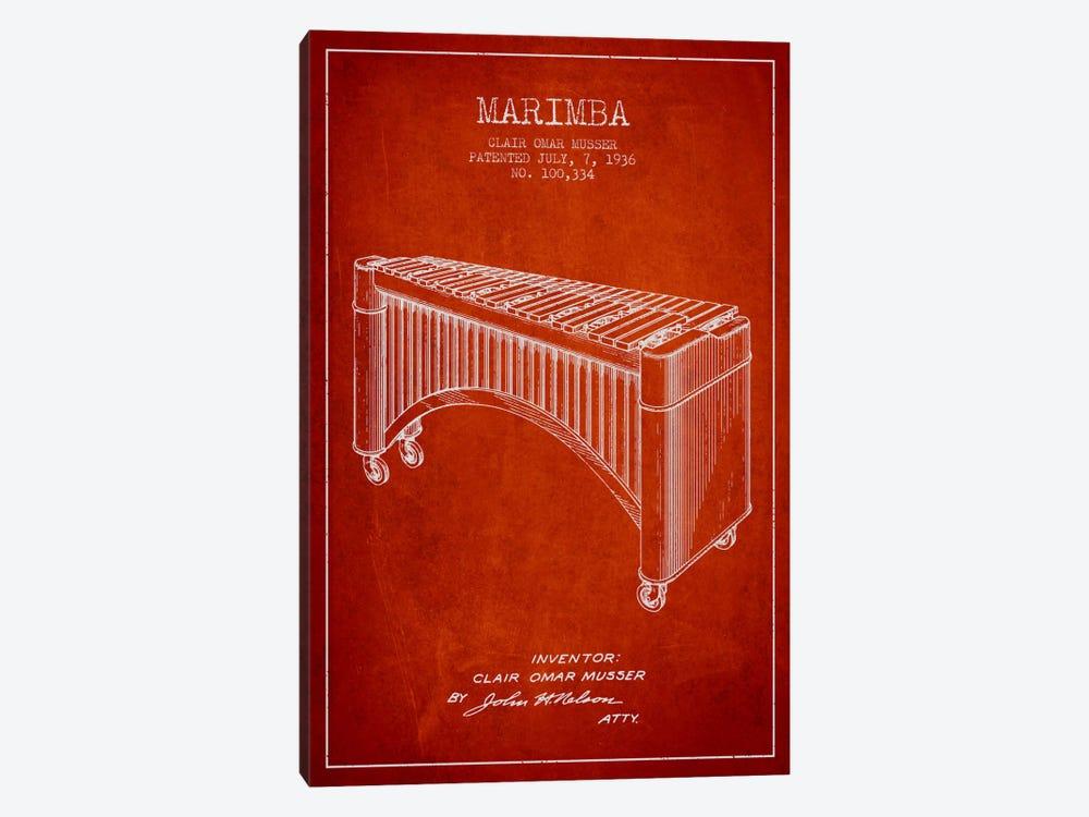 Marimba Red Patent Blueprint by Aged Pixel 1-piece Art Print