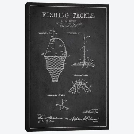 Fishing Tackle Charcoal Patent Blueprint Canvas Print #ADP1214} by Aged Pixel Canvas Art